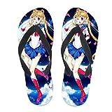 7REND Custom Flip Flops Cardcaptor Sakura's White Dress Cute Anime Girl Japanese Thong Sandals Beach Slippers for Women Men Daily Indoor Outdoor Activities