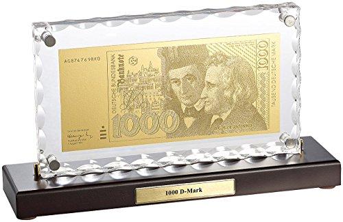 test St. Leonardo Banknoten: Vergoldete Kopie von 1000 DM Banknoten, 22 Karat Blattgold… Deutschland