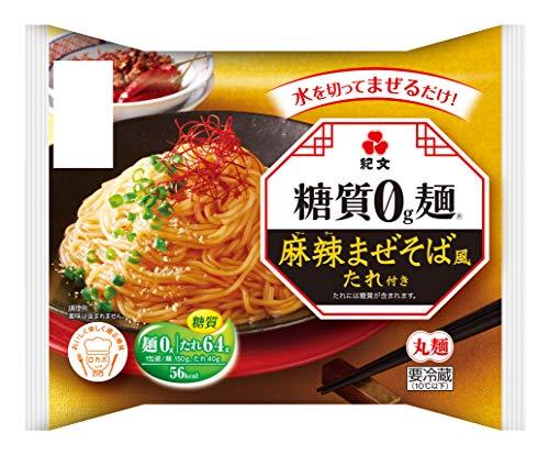 紀文【糖質0g麺 】 麻辣まぜそば風たれ付き 1ケース(6パック)