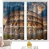 Cortina de bolsillo para barra italiana, Coliseo en Sunset W52 x L72 pulgadas cirtains