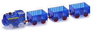 Ontopon The Magic Train Car for Magic Bends Track Set Modular and Brilliant in The Dark (Blue, with 3 Compartment)