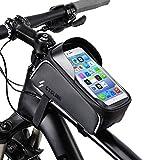 OUNDEAL Bolsa Bicicleta Cuadro, Soporte Movil Bicicleta Montaña, Funda Movil Bicicleta con Pantalla Táctil, Bolsa Manillar Bicicleta, Bolsa Movil Bicicleta para Teléfono por Debajo de 6,5 Pulgadas