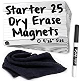 Dry-Erase Planning Card Magnets by AgilePacks for Agile Planning Boards, Scrum, Kanban, Meetings, Productivity | AgilePacks Starter Kit - 25 4x6 Magnetic Planning Cards, Magnetic Cloth, Marker