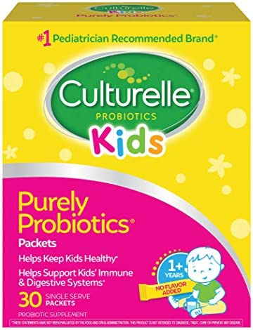Culturelle Kids Packets Daily Probiotic Supplement - Helps Support a Healthy Immune & Digestive System* - #1 Pediatrician Recommended Brand - 30 Single Packets