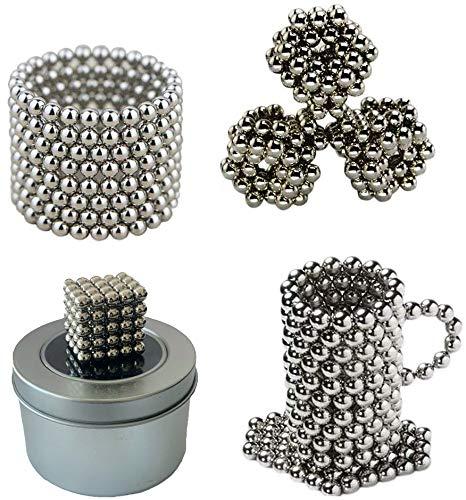 Hochwertige magnetische Kugeln / magnetische Bälle von PRESTiQ (100 Stück) | Durchmesser 5mm | Zum Basteln oder für Magnettafeln, Whiteboards, Kühlschrank, Pinnwand uvm | Fördern die Kreativität