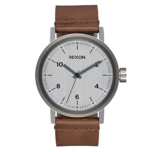 Nixon Herren Analog Quarz Uhr mit Leder Armband A1194-2092-00