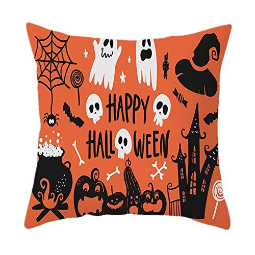 ppaphh Almohada de Halloween Cojín de Halloween Tirar de la Almohada Impresión de Halloween Almohada Almohada de un Solo Lado para Halloween 16