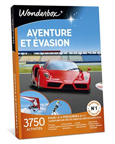 Wonderbox - Coffret cadeau homme - AVENTURE ET EVASION - 3750 activités aériennes, aquatiques ou sur circuit