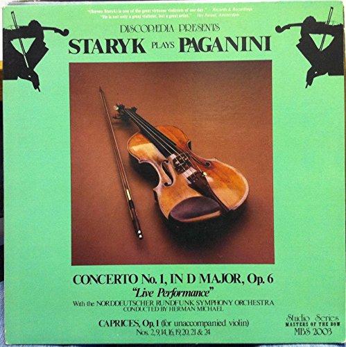 STEVEN STARYK PAGANINI VIOLIN CONCERTO NO 1 vinyl record