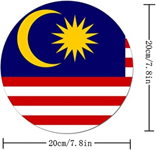 Flag Malaysia Round Mouse Pad Non-Slip Rubber Mouse Pad Mouse Mat for Gaming and Working