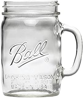 Ball - 1440016010 Wide Mouth Drinking Mug, (24 Ounce), (6-Pack)