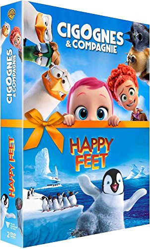 Coffret animation 2 films : cigognes et compagnie ; happy feet [FR Import]