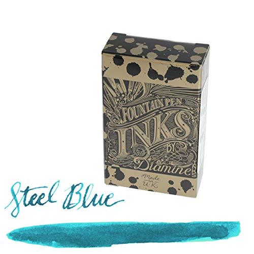 Diamine Cartuchos de tinta para pluma estilográfica (18 unidades), color azul