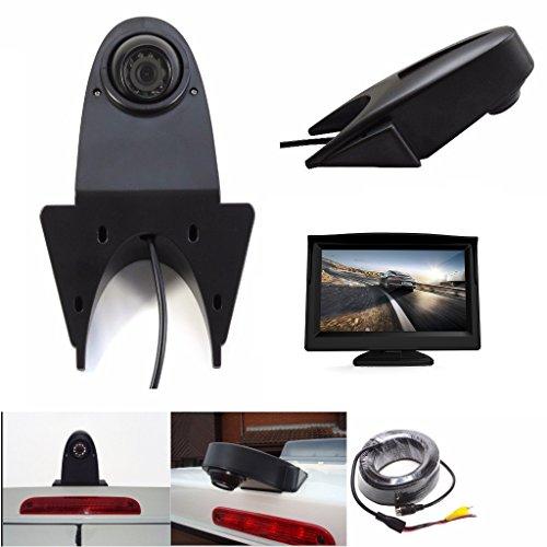 """HD 720p Dritte Dach Top Mount Bremsleuchte Kamera Rückfahrkamera kompatibel für MB Sprinter W906 Crafter Ducato Transit und viele Typen mehr Transporterkamera Komplettset mit 4.3\"""" Zoll Monitor"""