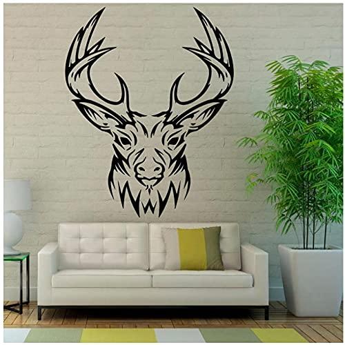 WYLYSD Wall Sticker Reindeer Murals Deer Head Wall Decals Room Decor Art for Living Stickers 58 X 72 cm