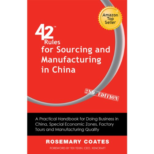 42 Rules for Sourcing and Manufacturing in China audiobook cover art