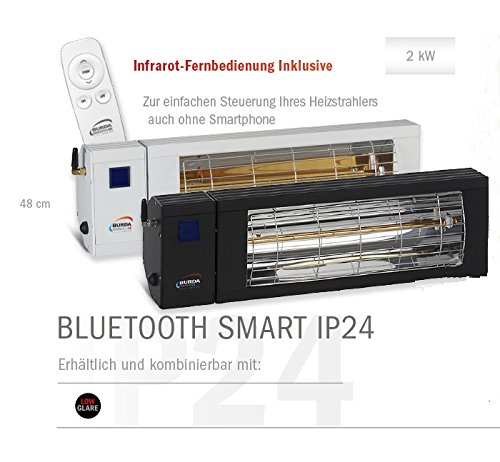 Burda Infrarot Heizstrahler SMART BT IP24 1x2kW schwarz - 3