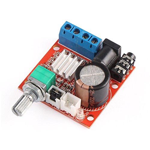 DollaTek 10W + 10W 2 Canales Clase D DC 12V Mini 2.0 Hi-fi de Audio estéreo electrónico ensamblado Amplificador AMP portátil Digital Booster Módulo para CD MP3 MP4 Altavoz PC