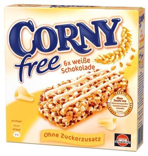 Corny Müsli-Riegel Free Weiße Schokolade, 5er Pack (5 x 120 g Packung)