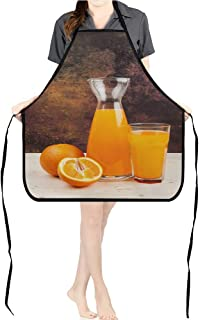 Jiahong Pan Durable Kitchen Orange Juice Chef Apron for Cooking,Grill and BakingK17.7xG26.6xB9