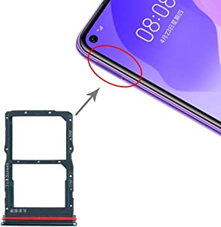 ZHANGYOUDE Phone Repair Parts SIM Card Tray + NM Card Tray for Huawei Honor 30S / Nova 7 SE (Black) (Color : Green)