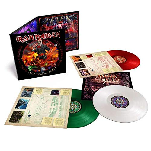 Iron Maiden: Nights Of The Dead, Legacy Of The Beast: Live In Mexico (180g) (Limited Edition) (Mexican Flag Triple Colored Vinyl)