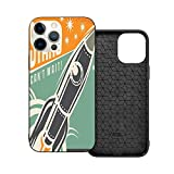 Hot Boutique Shockproof Case for iPhone 12 Series, Theme Adopt - Vintage Decor Stars Cant Wait Retro Advertisement with Rocket Figure Launch Your Business Image Multi