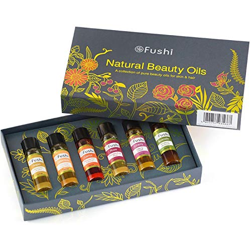 Fushi Natural Beauty Oils Gift Set | Best for Nourishing, Fine Lines & Skin Replenishing |Beauty & Skin Healing Benefits | Pure, Freshly Cold Pressed & Unrefined Oils|Ethical, Vegan & Made in the UK