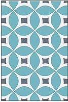 Hcchzr. リビングルームカーペット、現代の北欧のミニマルな幾何学ラグ、寝室のリビングルームのバルコニーレストランのコーヒーテーブルポーチ装飾的な敷物に適した (Color : Blue, Size : 40*120CM)