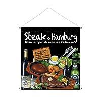 ☆タペストリー 64647 両面 Steak&hamburg