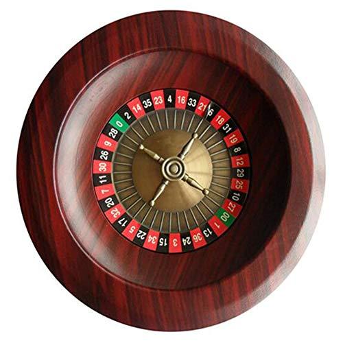 XZPZ 12-Zoll-Roulette-Tisch Roulette-Set Aus Holz Drehscheibe Roulette Set Unterhaltung Freizeit-Unterhaltung Tischspiele Erwachsene Und Kinder Lotterie Drehscheibe