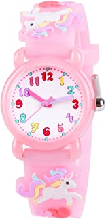 Kids Watches 3D Cute Cartoon Waterproof Silicone Children...
