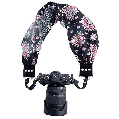 Capturing Couture Scarf Camera Strap with Hidden Pocket, BlackBerry - Zipper Pocket...
