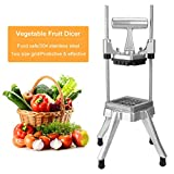 WICHEMI Commercial Chopper Dicer Vegetable Fruit Chopper Dicer Cutter Heavy Duty Stainless Steel Chopper for Onion Peppers Potatoes Mushrooms French Fry (1/2' Blade)