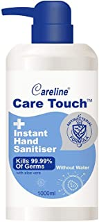 Careline Care Touch Instant Hand Sanitiser Pump, 1000ml, 75% Alcohol, Made in China