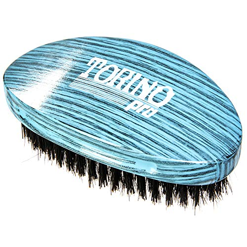 Torino Pro Medium Hard Palm Curve Wave Brush By Brush King - #1770 - 360 Curved Medium Hard Palm - Great for Wolfing - For 360 Waves