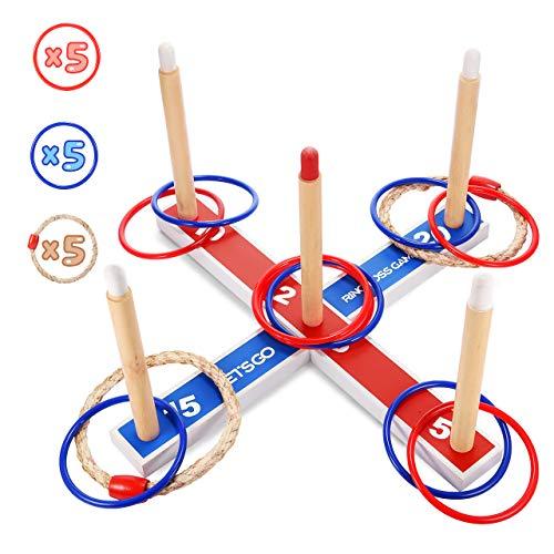 EUTOYZ Kinder Spiel, Ringwurfspiel für Kinder Lernspielzeug für Kinder Spielzeug für Jungen ab 3-7 Jahre Mädchen Geschenke Mädchen Spielzeug 3 4 5 6 7 Jahre mädchen Spielzeug