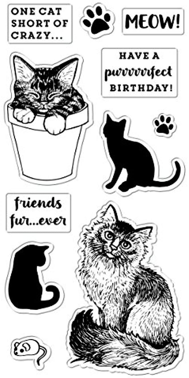 Fiskars Crafts 4x8 Inch Clear Stamps- Friends Furever, 14 Piece