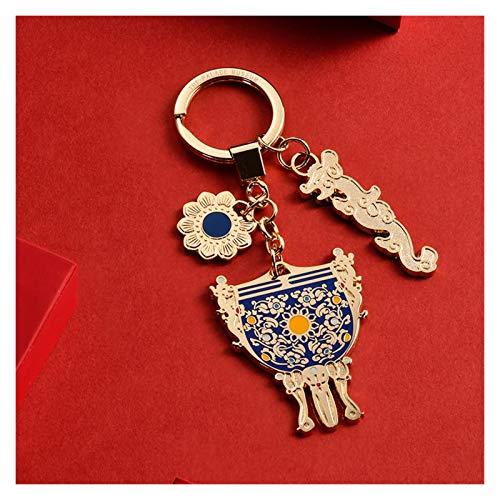 FOLA Retro Keychain Zinc Alloy Keyring Imitation Enamel Process Key Chain Metal Plating Production Key Ring Keychains for Women