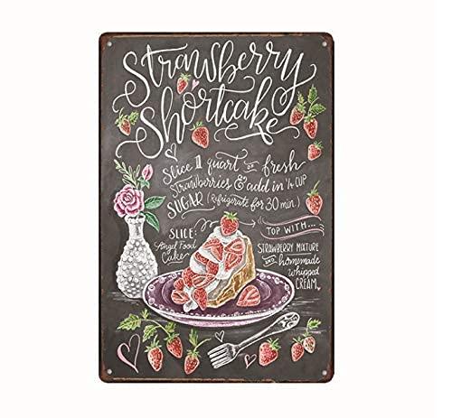 Love Sweet/Cake Food/Gym Vintage Home Bar Bar Cocina Lienzo Decorativo Pintura Platos De Pared Pinturas Artísticas 40X50Cm (Jn0017)
