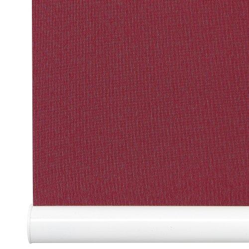 Liedeco Mittelzugrollo, Softrollo Tageslicht | Klemmträger, Montage ohne Bohren B 60 x H 130 | Bordeaux