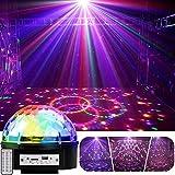 YouOKLight ステージライト・LED 9色変化 音楽再生 ディスコボールライト・演出・結婚式・/パーティー・KTV・カラオケ・バー照明 舞台ライト 音声起動 リモコン付き 音楽コントロールライトの色