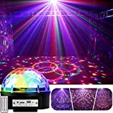 YouOKLight 9 Color LED Disco Ball Party Lights Strobe Light 18W Sound Activated DJ Lights Stage Lights for Club Party Gift Kids Birthday Wedding Decorations Home Karaoke Dance Light (with Remote)