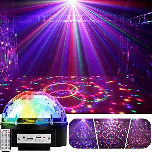 YouOKLight ステージライト・LED 9色変化 投影ランプ Bluetooth/USBメモリに対応 音声制御 音量/輝度調整可 ディスコボールライト/演出/結婚式/パーティー/KTV/カラオケ/バー照明/舞台ライト/クリスマス/ハロウィン/パーテイー飾り/リモコン付き