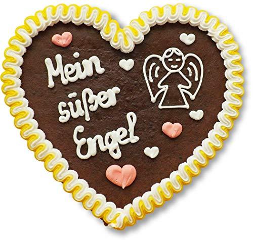 Lebkuchenherz - 23cm - Mein süßer Engel - perfekt als Liebesbeweis, Geschenk für Freund und Freundin