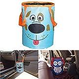 MONALA Bolsa de basura para coche colgante de coche de basura de dibujos animados bolsa de almacenamiento bolsa de almacenamiento para colgar suministros amarillo azul/perro