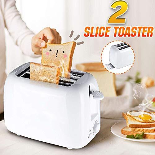 Automatische Broodrooster, 2-Delige Ontbijtsandwichmachine, 800W 220-240V Bakken Met 6 Snelheden, Kooktoestellen, Thuiskantoor Broodroosters