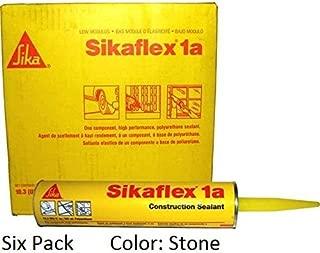 Sika, Sikaflex 1A, One Part Polyurethane Caulk, Sealant / Adhesive, 10.3 Fl Oz, Color: Stone, Six Pack