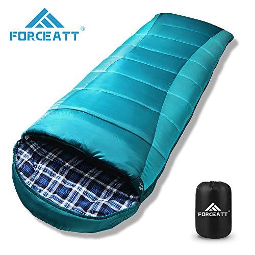 Forceatt Saco Dormir Flanelle Capucha,Temperatura