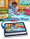 Cakecery Doc McStuffins Edible Cake Image Topper Personalized Birthday Cake Banner 1/4 Sheet